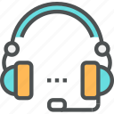 assistance, call, consultation, faq, headphones, help, service, support icon