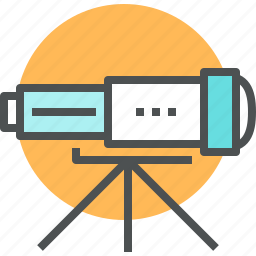 astronomy, future, horizon, look, spyglass, study, telescope, vision icon