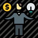 balance, ethics, financial, management, scale icon