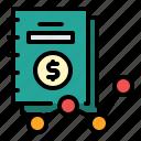 document, file, finance, google analytics, market, report icon