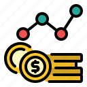 chart, graph, increase, money, sales, statistic icon