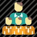 boss, group, leader, organization, team, team management