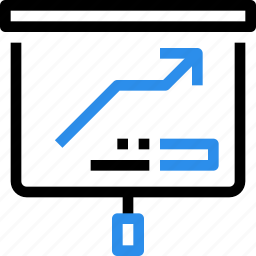 arrow, business, corporate, presentation, report, up icon