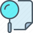 business, document, planning, research, search icon