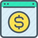 bank, banking, browser, business, finance, online icon