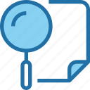 business, document, plan, planning, search icon