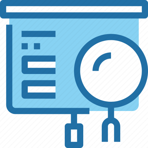 business, corporate, data, office, presentation, search icon