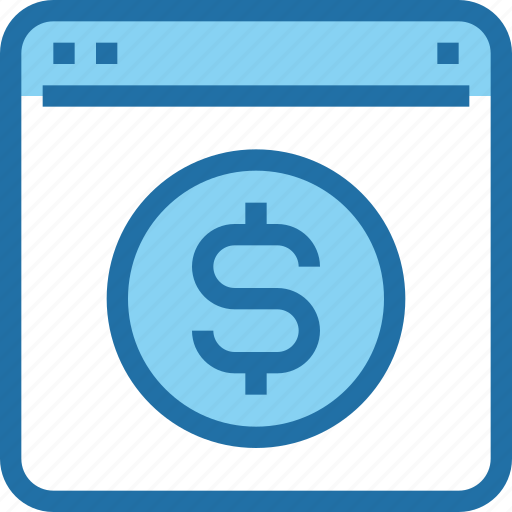 banking, browser, business, money, online, payment icon