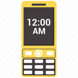 cellphone, message, mobile, mobile clock, phone icon