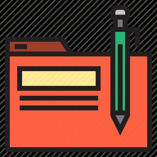 business, eliement, folder, office icon