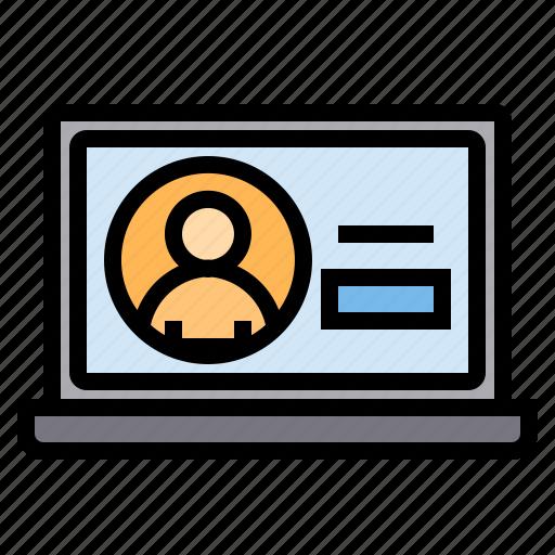 Eliement, laptop, business, office icon