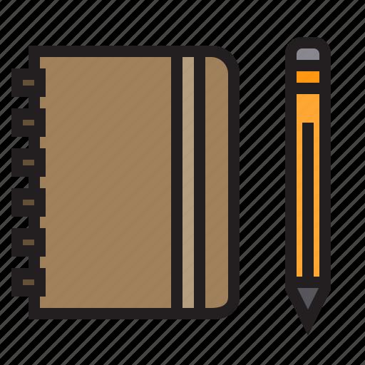 business, eliement, note, office, pen icon