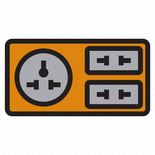 business, eliement, office, outlet, plug icon