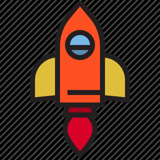 business, eliement, office, rocket icon