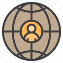 business, eliement, globe, office icon