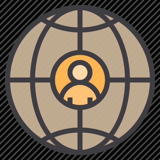 Business, eliement, globe, office icon - Download on Iconfinder