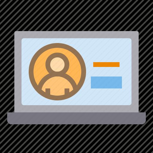 business, eliement, laptop, office icon
