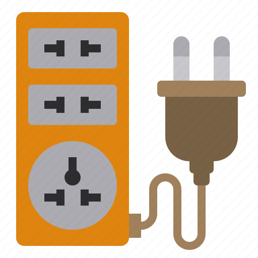 Plug, eliement, business, office, outlet icon