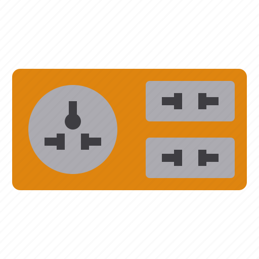 business, eliement, office, outlet, plug icon
