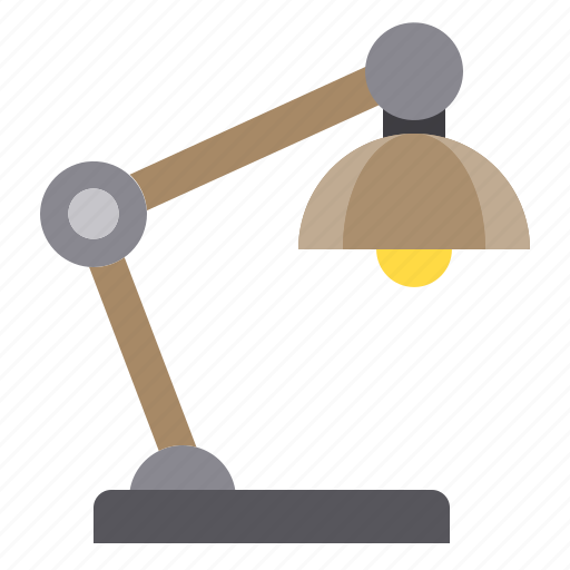 business, eliement, lamp, office, table icon