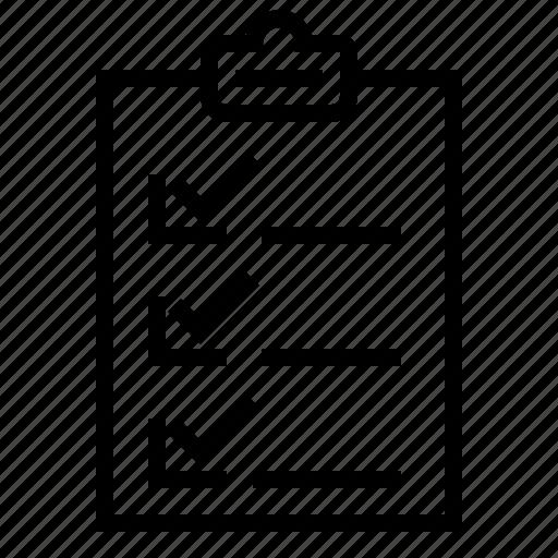 business, eliement, list, note, office icon