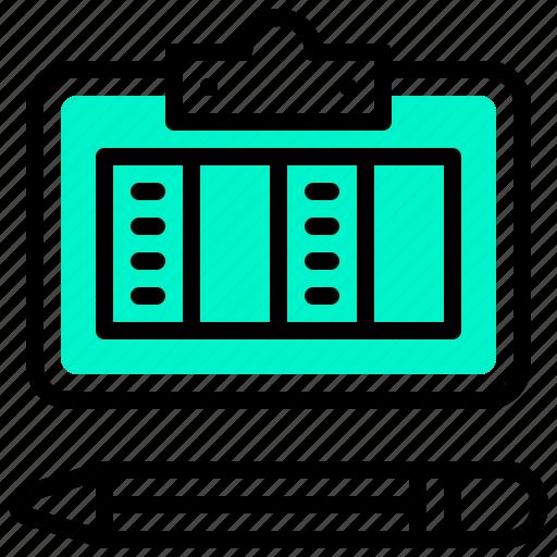 data, document, file, pencil, schedule icon