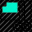 cut, data, document, paper, scissor icon