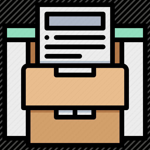 box, data, document, file, paper icon