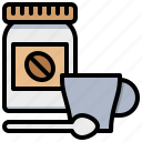 bean, bottle, coffee, cup, spoon icon