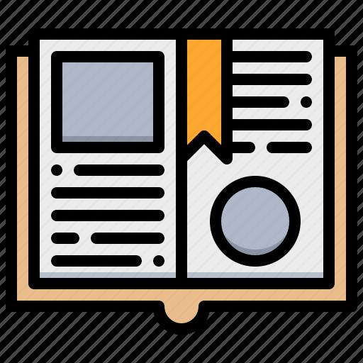 book, bookmark, favourite, file icon