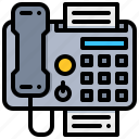 fax, paper, technology, telephone, tranfer icon