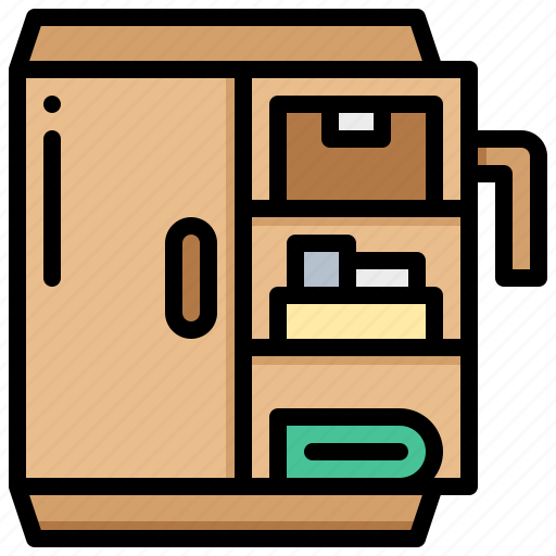 book, cabinet, equipment, file, tool icon