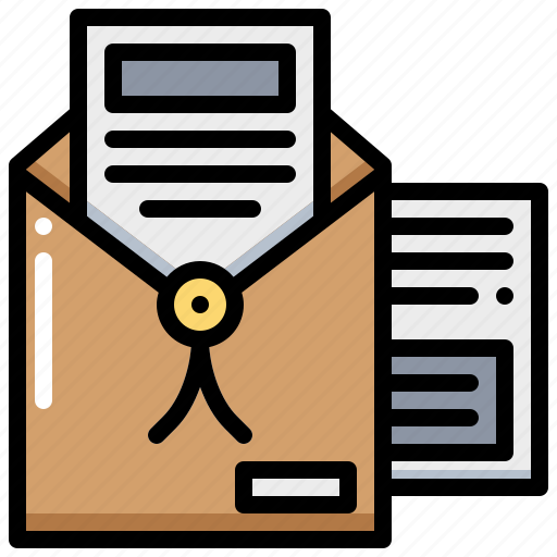document, file, paper, secret icon