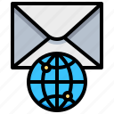contact, earth, global, letter, mail, world icon