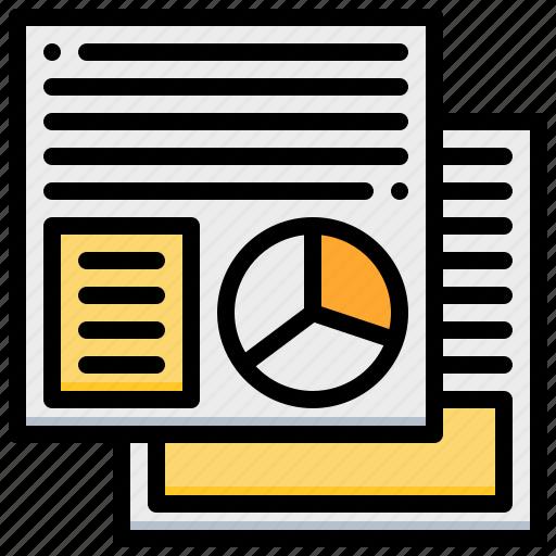 analysis, chart, document, paper, pie, polls icon