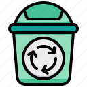bin, eco, recycle, trash icon