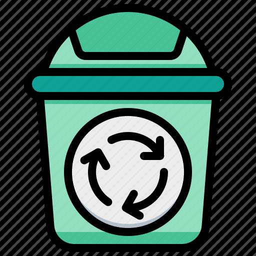 bin, eco, recycle, trash icon
