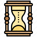 clock, essential, sand, time icon