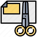 cut, data, document, paper, scissor icon