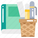 book, office, pencil, ruler, stationery, supplies icon