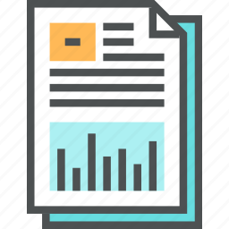 chart, data, document, graph, infographic, paper, presentation, report icon