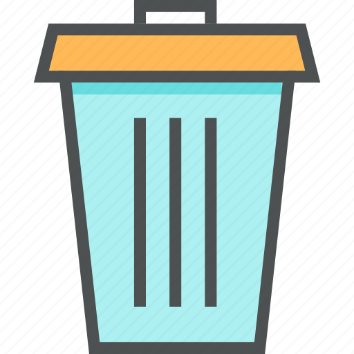 basket, bucket, can, container, office, trash, trashcan icon