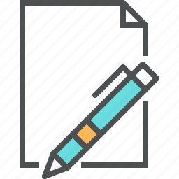 blank, document, file, page, paper, pen, resume, sheet, write icon