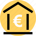 banking, euro, money icon