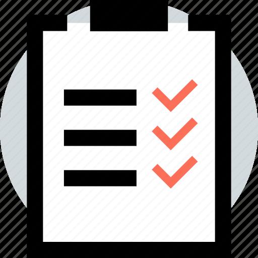 check, clipboard, list, mark icon