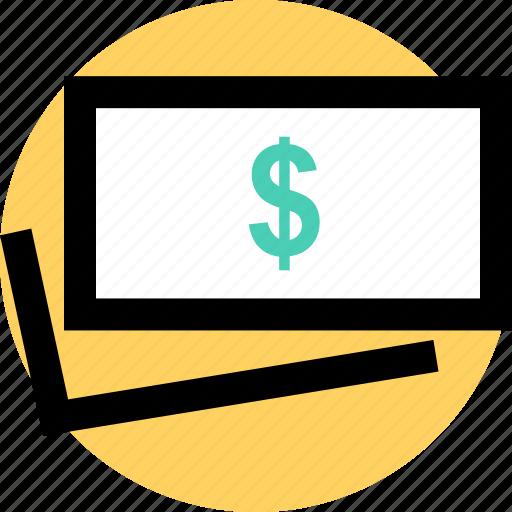 bill, dollar, pay icon