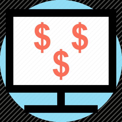 dollar, mac, pc, sign icon