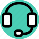 head, headphones, jack icon