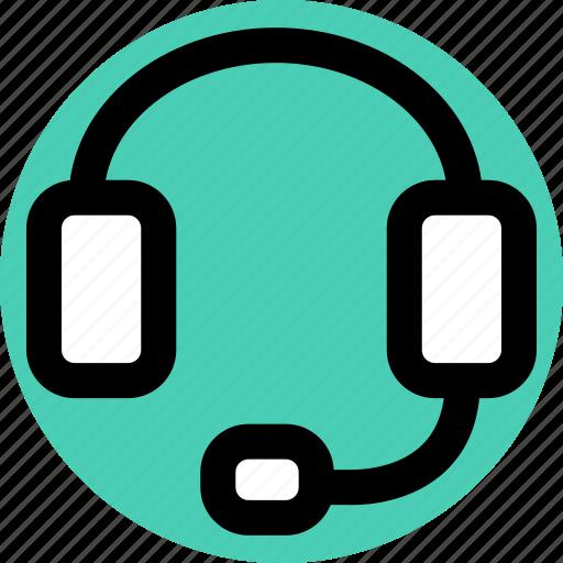 head, headphones, jack icon
