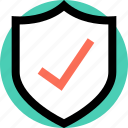 check, mark, secured, security icon